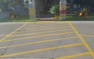 New Line Striping at Daycare