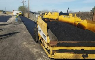 Yellow Equipment Asphalt Paving