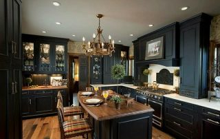 Dark Kitchen with Hardwood