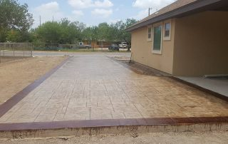 Concrete Stamped Driveway