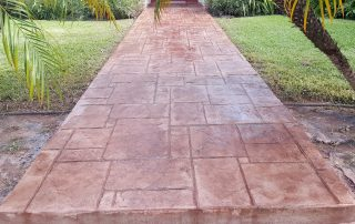 Concrete Stamped Walk